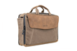 The Air Porter—waxed canvas with grizzly-brown leather flap