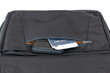 The Air Porter—zippered front pocket under the leather flap