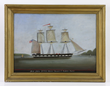 Edward B. Michels Master, Ship John Quincy Adams, Oil on Wood Panel