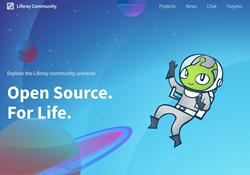 Screenshot of the Liferay Community Site