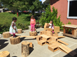 Children at the Sierra College Child Development Center use their creativity by exploring Anji Play materials.