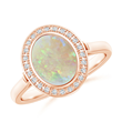 Bezel Set Oval Opal Cocktail Ring