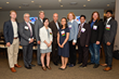 Student winners of the World Series of Innovation Clean Water Challenge with Gus Harris, Executive Director, Moody's Analytics; Shawn Osborne, President & CEO of NFTE; Roland Schatz of UNGSII, Megan S