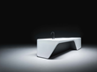 Cove kitchen of Boffi, entirely in white pristine Corian® surface, conceived by prestigious Zaha Hadid Design
