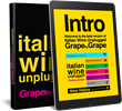 Release of New eBook, Italian Wine Unplugged: Grape by Grape