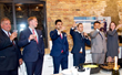 Toasting to the success of RE/MAX NEXT at its grand opening party were, from left, James Camden of Camden Law Group, Brett Newsome of Fidelity National Title, Rafay Qamar and Mike Opyd of RE/MAX NEXT,