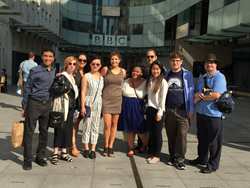 Graduate students from Drexel University's Television Management Graduate Program visit London each year as part of an immersive experience on the relationship between American and British Television
