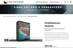 ProSlideshow Modular Was Released by Pixel Film Studios for FCPX