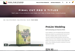 Pixel Film Studios Releases ProList Wedding for FCPX