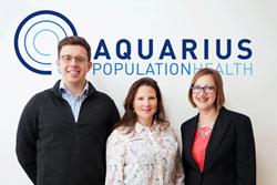 Aquarius Population Health's SBRI team leads (L to R), Dr Michael Harvey, Dr Elisabeth Adams, Dr Susie Huntington