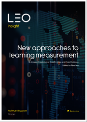 The LEO Learning insight 'New approaches to learning measurement' is now available as a free download on the leolearning.com Resources page
