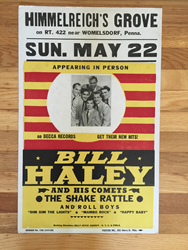 Original boxing style 1955 Bill Haley Himmelreich's Grove concert posters