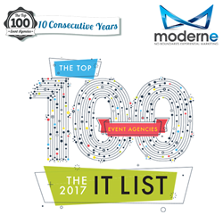 10 Consecutive Years as an It List Top 100 Event Agency