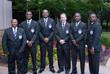 USA Security Officers Stephen Jama, Serge Mutanda, Edward Toliver, John Moore, Eugene Binyuy, and Terry Burns at the Atlanta Headquarters