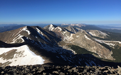 View from the 14,047-foot summit of Culebra Peak at Cielo Vista Ranch
