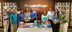 Employees donate school supplies for the Broward Education Foundation