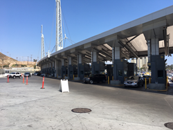 US/Mexico border crossing at San Ysidro, CA