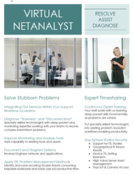 Virtual NetAnalyst is inserted into client workflows providing deep packet expertise to solve problems