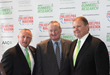 American Association for Cancer Research (AACR) Foundation Executive Director Mitch Stoller (left) stands for a photo with Philadelphia Mayor Jim Kenney (center) and Philadelphia Marathon Executive Di