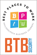 BTB Security Named One of Philadelphia's Best Places to Work