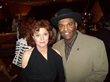 "Susan Sarandon poses with Jason ""Malletman"" Taylor at the New Jersey Hall of Fame Awards. Taylor performed with Rusty Paul, Ace Frehley, Brad Whitford (Aerosmith), Robert Randolph, and Jay Dittamo."