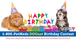 2017 1-800-PetMeds Cares DOGust Birthday Contest