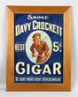 Davy Crockett Cigar Embossed Tin Sign, estimated at $20,000-40,000.