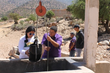 WPI students work on a greywater recycling system to support a fog harvesting initiative in Morocco.