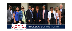Representing part of the Realty Executives Edge team, pictured from left to right: Jaibu Joseph, Debora Patterson, Jan Henderson, Nelson Mathew (Broker of Record), Rebecca Puckett, Laurie Hasson, Amarjith Furmah, Gloria Shoon, Lindsay Palo, and Noel Myers.