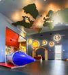 Solar system themed atrium at Stepping Stone School Teravista