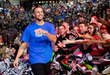 NBA star Stephen Curry helped Liberty University students collect 20,000 pairs of shoes for the Congo during the Kick'n It For A Cause Convocation at Liberty on March 1. (Photo by Kevin Manguiob)