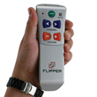 Flipper simplified TV remote control for seniors