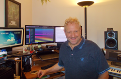 Composer Michael Kurek, with Steinberg Cubase. (Photo credit: Michael Kurek)