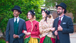 The Christmas Carolers - victorian-styled costumes and Christmas entertainment