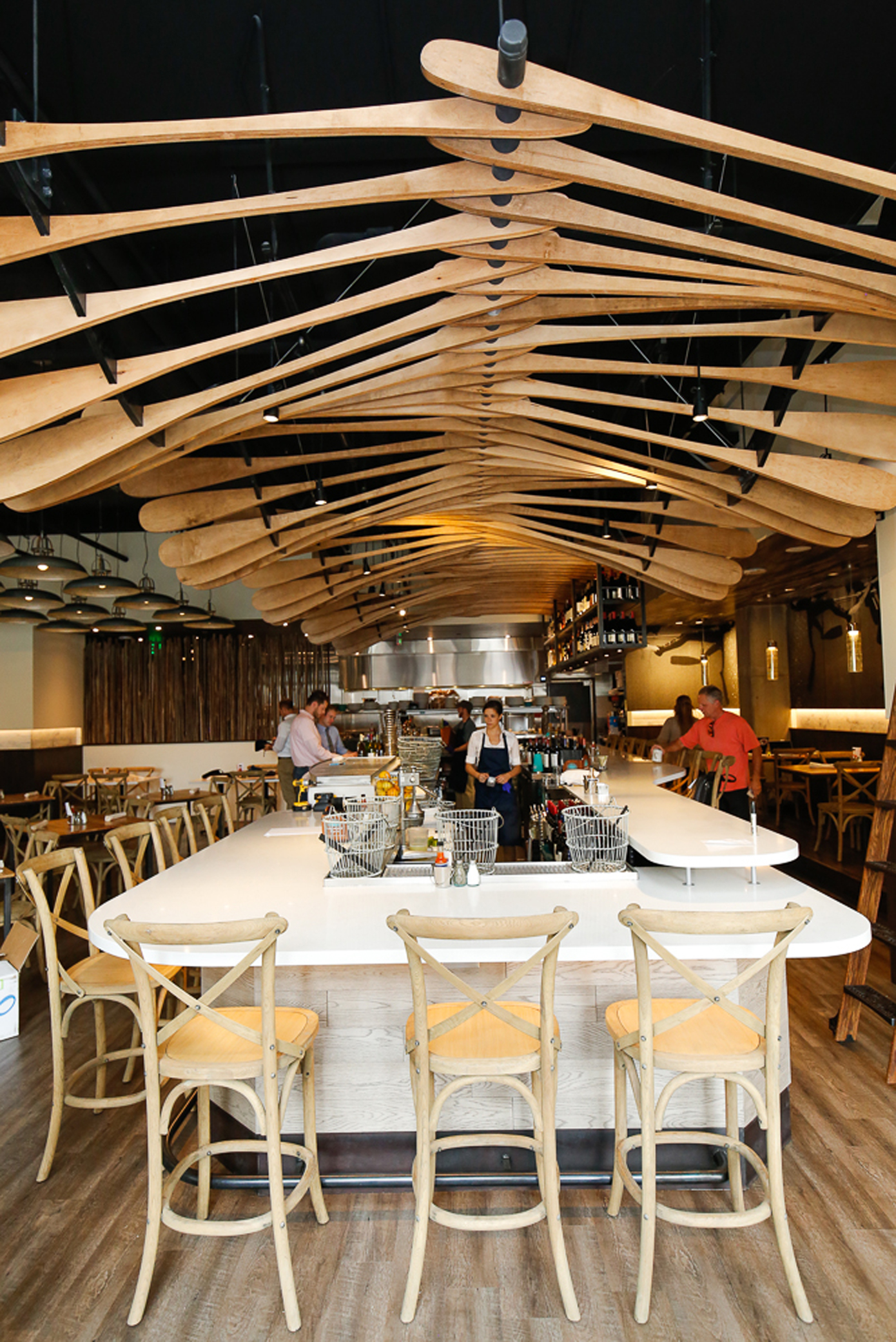 Honored As An Inspiring Restaurant Interior By Food52 The Arch11 Design Of Blue Island Oyster Bar Also Was Named A Top 5 Stone Cold Stunner