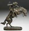 Frederic Remington, Peter Hassrick, illustrator, bronze sculpture, American painter, Western art, American West, altered art, art forgeries, Sid Richardson Museum, Sundance Square, Fort Worth, Texas, the Oregon Trail, 19th century American West, overpaint