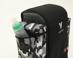 A lot of thought went into the design of the Decka. A dedicated, insulated bottle cooler for baby bottles and drink cans, bottles is unheard of in diaper bags. Vecho Bags is the only company that offers this game changing beautiful design. The bag is desi