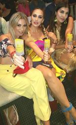 LA Swim VIPs enjoying their Mango Passionfruit Buzz Pop Cocktails