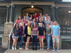 Students from Germany participated in the Fulbright Summer Seminar at Washington & Jefferson College.