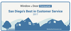 San Diego Windows Best Customer Service Award