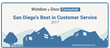"BM Windows Named ""Best in Customer Service"" by San Diego Window & Door Consumer Publication"