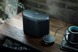 Yamaha WX-030 wireless speaker with Amazon Echo Dot