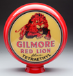 "Gilmore Red Lion plus Tetraethyl 15"" Single Globe Lens, estimated at $10,000-20,000."