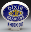 Dixie Gasoline Knock-Out Keyhole Globe, estimated at $7,000-12,000.