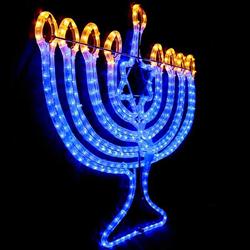 LED Menorah Rope Light Motif