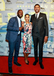 Mike Phillips, Seema Sadekar and Jalen Rose walk the red carpet at The Jalen Rose Golf Classic Pairings Party at MGM Grand Detroit