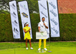 Jalen Rose and Seema Sadekar at The Opening Ceremony of The Jalen Rose Golf Classic