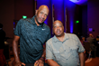 Ron Harper and Spud Webb attend The Jalen Rose Red Carpet & Pairings Party at MGM Grand Detroit