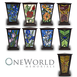 OneWorld Memorials Stained Glass Cremation Urns