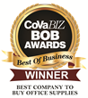 Electronic Systems, Inc. (ESI) Receives Top Honor as Best Company to Buy Office Supplies, by Readers of CoVaBiz Magazine
